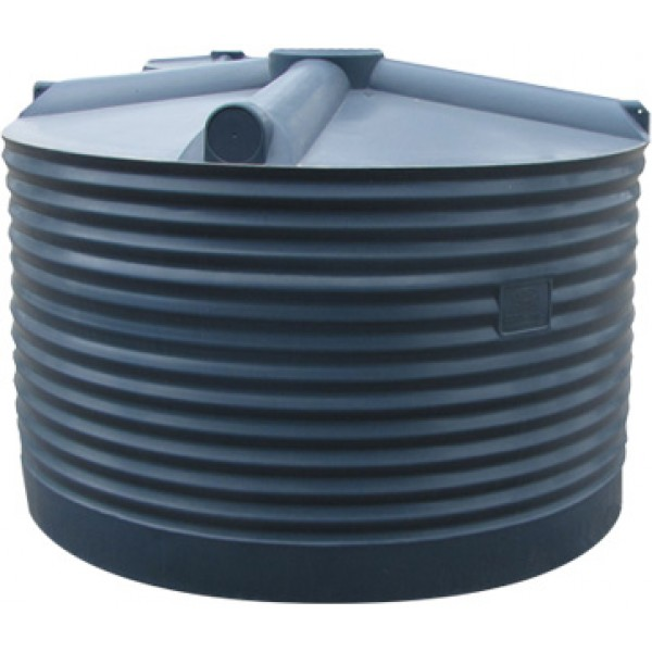 2250ltr All Poly Round Poly Tank Squat