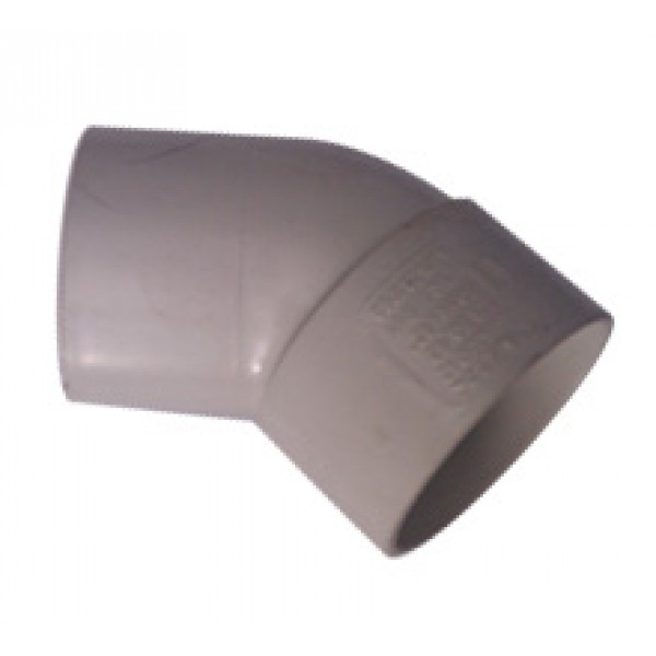 PVC DWV Elbow 45° M&F 50mm