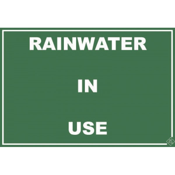 220mm x 150mm Colorbond Rainwater Sign