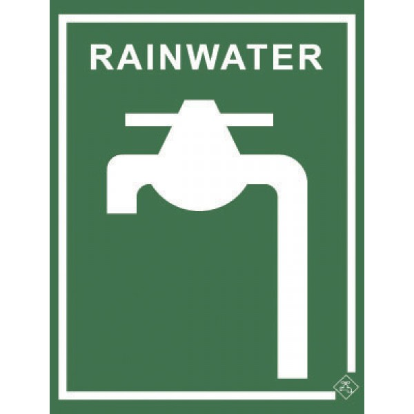92mm x 75mm Colorbond Rainwater Tap Sign