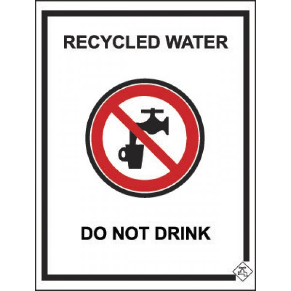 92mm x 75mm Colorbond Recycled Water Tap Sign