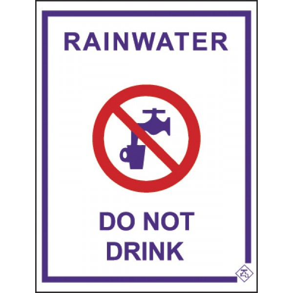 92mm x 75mm Colorbond Recycled Water Tap Sign (Lilac)