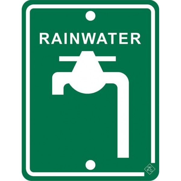 92mm x 70mm Colorbond Rainwater Tap Sign