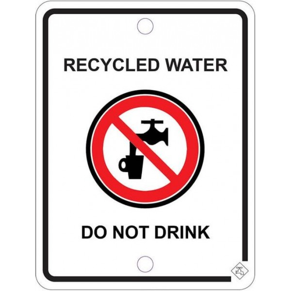92mm x 70mm Colorbond Recycled Water Tap Sign